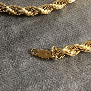 14k GP Rope Chain Necklace